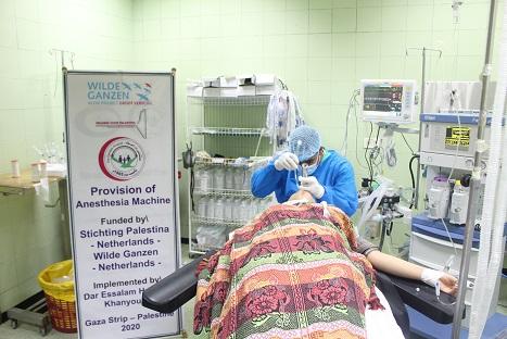 Anesthesieapparaat in bedrijf